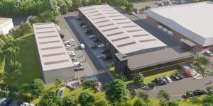 Burrington Business Parks aerial view